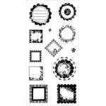Штамп силиконовый, набор: Рамки узорные 12шт Fiskars 4657f