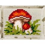 Набор для вышивания с пряжей Bambini арт. 2120 'Боровик' 10х14 см