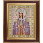 Набор для вышивания бисером GALLA COLLECTION арт.М256 Св. пр. Светлана (Фотиния) Палестинская 12х15 см