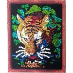 Набор 'Колор Кит' картина из пайеток арт.КК.CM001 Тигр 24х30