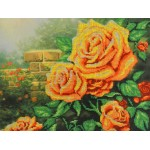 Набор для вышивания Габардин +бисер МП Студия арт БГ-232 Желтые розы 23*28