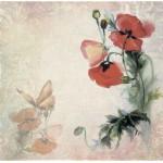 Бумага для скрапбукинга акварельные цветы арт.CP01258 мак 30х28,5см 160грм одностор