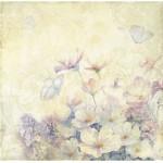 Бумага для скрапбукинга акварельные цветы арт.CP01265 полевые цветы 30х28,5см 160грм одностор