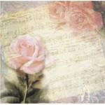 Бумага для скрапбукинга акварельные цветы арт.CP01302 розы 30х28,5см 160грм одностор