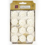 Бумажные цветочки Prima арт.566593 Avante Белые 12 шт*2,5см
