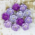 Бумажные цветочки Prima арт.566623 Avante Сиреневые 12 шт*2,5см
