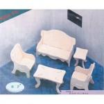 Сборная модель P008-2 арт.КЛ21053 дерево набор мебели