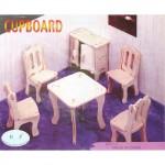 Сборная модель P011-2 арт.КЛ21428 дерево набор мебели