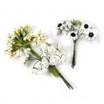 Цветы Creativ арт.50415 цв.белый высота 10 см уп.35 шт в ассорт.
