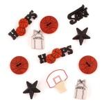 Декоративные элементы JESSE JAMES арт.0421 Баскетболл