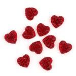 Декоративные элементы JESSE JAMES арт.5871 Сердечки красные 14