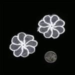Декоративный элемент 21177 арт.КЛ.008 Цветок d-45мм вискоза упак. 2шт