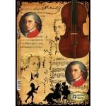 Декупажная карта Vintage Design арт.E-033 Моцарт в жженом формат А3
