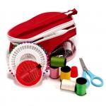 Дорожный набор в пластиковой сумочке цв.красный арт.13088