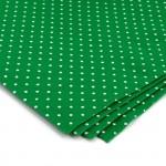 Фетр в горошек арт.КЛ.21157 1мм 30х30см цв.зеленый уп.4шт