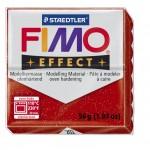 FIMO Effect Glitter Red полимерная глина, запекаемая в печке, уп. 56 гр. цвет: красный с блестками 8020-202