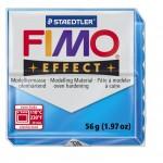 FIMO Effect Transparent Blue полимерная глина, запекаемая в печке, уп. 56 гр. цвет: полупрозрачный синий арт.8020-374