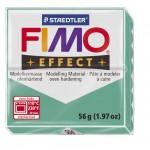 FIMO Effect Transparent Green полимерная глина, запекаемая в печке, уп. 56 гр. цвет: полупрозрачный зелёный 8020-504