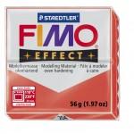 FIMO Effect Transparent Red полимерная глина, запекаемая в печке, уп. 56 гр. цвет: полупрозрачный красный 8020-204