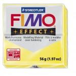 FIMO Effect Transparent Yellow полимерная глина, запекаемая в печке, уп. 56 гр. цвет: полупрозрачный жёлтый 8020-104