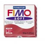 FIMO Soft Cherry Red полимерная глина, запекаемая в печке, уп. 56 гр. цвет: вишневый арт.8020-26