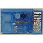 Иглы арт.ТВ 0340-6084 набор дорожный для ручного шитья в голубой коробочке