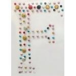 Картинки клеевые металлические арт.ТВД-161116-D буква F