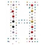 Картинки клеевые металлические арт.ТВД-161116-E буква H