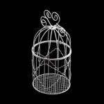 Клетка Y-1016 арт.КЛ21532 круглая с сердечком 10*16см металл