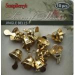 Колокольчики золотые 11*9мм SCB 250302324 уп.10шт