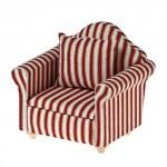 Кресло арт.AM0102006 ткань красные полосы