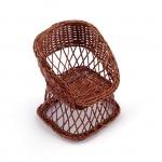 Кресло арт.КЛ21391 плетеное 9*9*12см