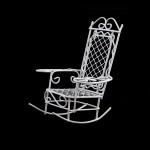 Кресло-качалка мини арт. SCB27031 металл 8,5х7,5х10см белое