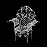 Кресло мини арт. SCB27032 металл 10х6х11см белое