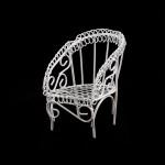 Кресло мини арт. SCB27033 5х5х7см для отдыха белое