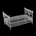 Кровать мини арт. SCB27027 металл 10,5х6х5,5см белая