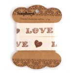 Лента отрезная Love арт.SCB 390320 шир.25мм по 2м