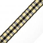 Лента шотландка с метанитом 30мм арт. С3301Г17 рис 9280 цв. черный в ассортим уп. 25м