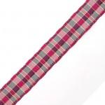 Лента шотландка с метанитом 30мм арт. С3301Г17 рис 9280 цв. малиновый в ассортим уп. 25м