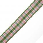 Лента шотландка с метанитом 30мм арт. С3301Г17 рис 9280 цв. зеленый в ассортим уп. 25м