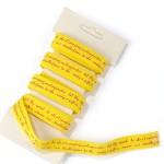 Ленточка декоративная LL-001 для творчества арт.КЛ.20380 шир. 1,0см упак. 3м цв.желтый