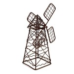 Металлическая мини ветряна мельница арт. SCB27050 5х9х14см коричневая