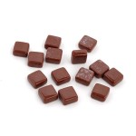 Мозаика стеклянно-керамическая арт.SS37 Шоколад, 1х1см 100г