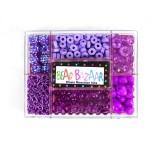 Набор с бусинами BEAD BAZAAR Цепная реакция Фиолетовое увлечение арт.506