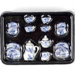 Набор чайный арт.AM0100001 фарфор уп.15 шт голубые цветы