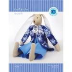 Набор для изготовления текстильной игрушки арт.KFT1 Зайчик-мальчик