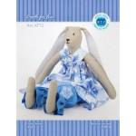 Набор для изготовления текстильной игрушки арт.KFT2 Зайчик-девочка