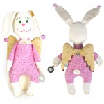 Набор для изготовления текстильной игрушки арт.ПА-303 Зайка - Ангел 22 см