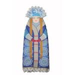 Набор для шитья и вышивания чехол на бутылку арт.МП-16х37- 8220 Зимушка