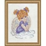 Набор для вышивания Алисена арт.1002 Ангелочек в голубом 10*13 см